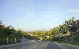 Camarillo陡峭的街道,加州 库存图片