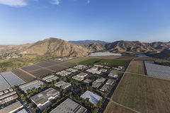 Camarillo California Farm Fields and Industrial Park Aerial Royalty Free Stock Photos