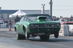 Camaro drag car Stock Photos