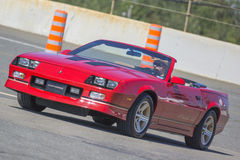Camaro. Picture of unrestored camaro iroc-z convertible during car show exhibition at the grand national show at sanair, quebec, canada august 17-18 2013 Royalty Free Stock Photography
