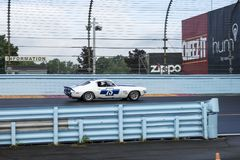 Camaro on the race track Royalty Free Stock Image