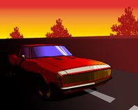 Camaro rouge Image stock
