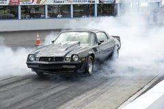 Camaro smoke show Stock Images