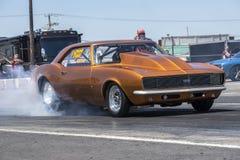Camaro smoke show Stock Photo