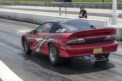 Camaro on the track Stock Image