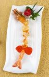 Camarones cocidos con queso Fotografía de archivo libre de regalías
