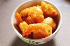 Camarones fritos foto de archivo libre de regalías