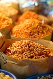 Camarones preservados secados Fotografía de archivo