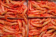 Camarones rojos Imagen de archivo libre de regalías