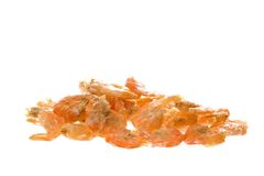 Camarones secados macros Imagen de archivo libre de regalías