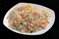 Camarones y arroz Foto de archivo libre de regalías