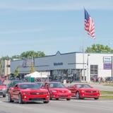 Camaros and Mazda at the Woodward Dream Cruise Stock Image