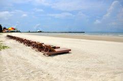 Camas da praia Imagem de Stock