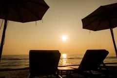 camas da praia Foto de Stock Royalty Free