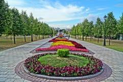 Camas de flor hermosas Imágenes de archivo libres de regalías