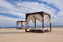 Camas de la playa Imágenes de archivo libres de regalías