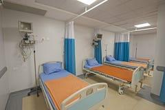 Camas em uma divisão de hospital Fotografia de Stock