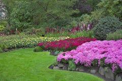 Camas rosadas y rojas. Fotos de archivo