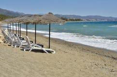 Camas solas de la playa Fotografía de archivo