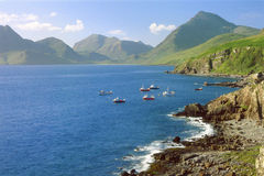 Camasunary coastline, Elgol, isle of Skye Royalty Free Stock Images
