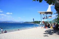 Camayan-Strandurlaubsort lizenzfreies stockfoto