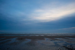 Camber beach clouds Stock Photo