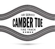 Camber- och tå-bil service Arkivfoton