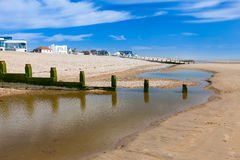 Camber piaski Plażowy Anglia UK Fotografia Royalty Free