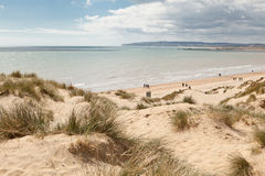 Camber sands, Camber: dunes and the beach Stock Photo