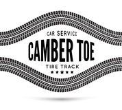 Camber and toe-car service. Vector illustration on white background Stock Photos