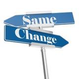 Cambi e gli stessi segni illustrazione di stock