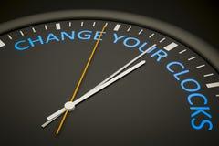 Cambi i vostri orologi illustrazione di stock