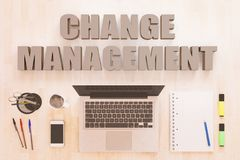 Cambi il concetto del testo della gestione Fotografia Stock