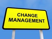 Cambi il segno della gestione Fotografia Stock