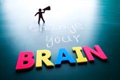Cambi il vostro concetto del cervello Fotografia Stock Libera da Diritti