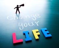 Cambi il vostro concetto di vita Immagini Stock Libere da Diritti