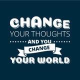 Cambi il vostro manifesto di vettore di pensieri illustrazione di stock