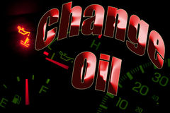 Cambi l'indicatore luminoso del motore di servizio dell'olio Fotografia Stock Libera da Diritti