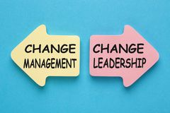 Cambi la gestione contro la direzione del cambiamento fotografie stock