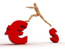 Cambi la valuta (con il percorso di residuo della potatura meccanica) Immagini Stock Libere da Diritti