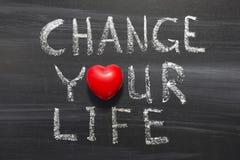 Cambi la vostra vita Fotografie Stock Libere da Diritti