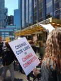 Cambi le leggi della pistola, il congresso del cambiamento, marzo per le nostre vite, la protesta, NYC, NY, U.S.A. Immagine Stock