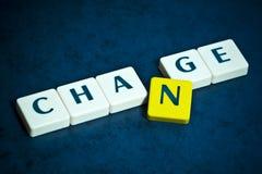 Cambi le lettere Immagine Stock