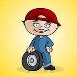 Cambiador del neumático stock de ilustración
