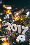 2016 cambiamenti al fondo 2017 di lerciume Immagini Stock Libere da Diritti