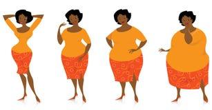 Cambiamenti del formato dopo la dieta Fotografia Stock