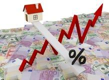 Cambiamenti di programma nei valori immobiliari illustrazione vettoriale