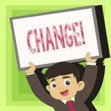 Cambiamento del testo della scrittura Modifica di transizione di revisione di diversione di adeguamento di alterazione di signifi illustrazione vettoriale