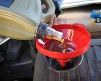Cambiamento dell'olio Immagini Stock Libere da Diritti