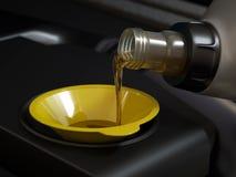 Cambiamento dell'olio immagini stock